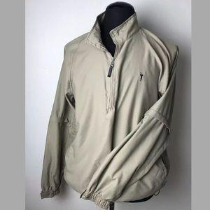 AUSTIN GOLF Men's Khaki Pullover Convertible Zip